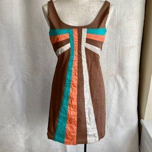 Anthro Retro Holiday Bow Sleeveless A-Line Dress